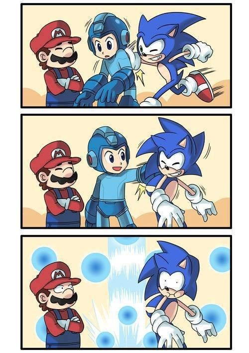 Never toutch the Spikes! So happy mega man was confirmed for ssb4! :)