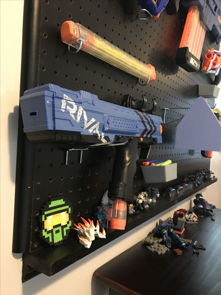 Build a nerf gun peg board wall!