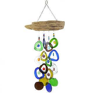 Reclaimed Wine Bottle Wind Chime #upcycled #madeinusa $67.99Ideas, Driftwood, Glasses Windchimes, Recycle Wine Bottle, Wine Bottle Glasses, Wind Chimes, Recycled Wine Bottles, Crafts, Bottle Wind
