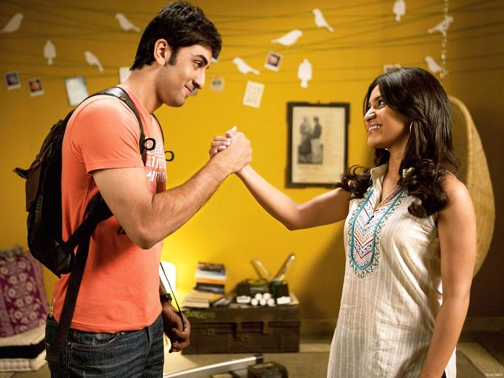 I am not the only one who love the yellow wall with cut out birds on a wire;  Wake Up Sid was a fun movie to watch all around.  Designs for a Living...: Movies with great decor