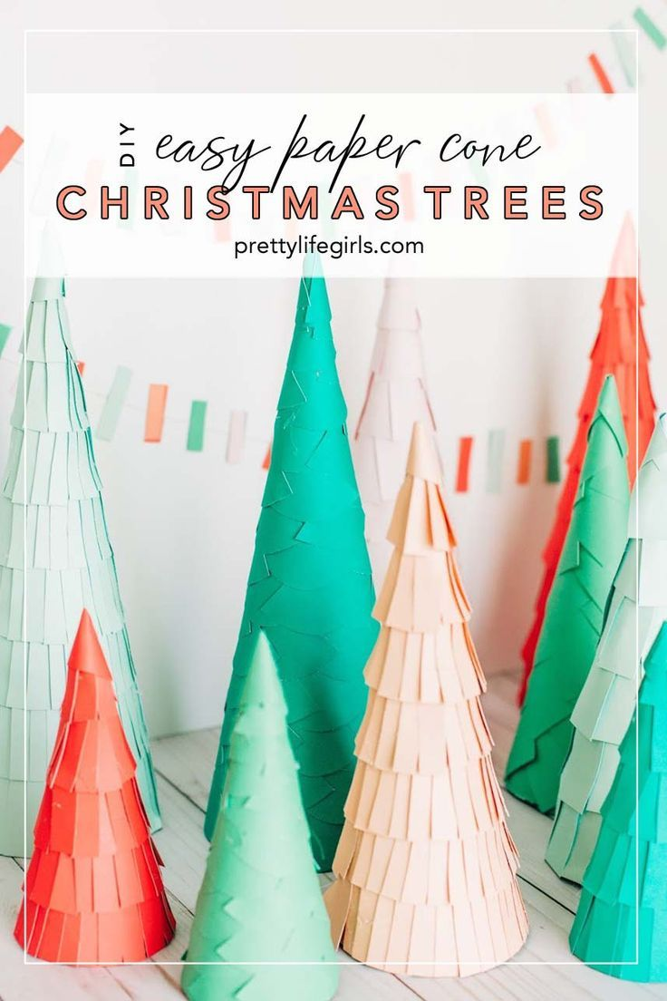 Christmas Table Decor Diy Paper Cone Christmas Trees The Pretty Life Girls Diy Paper Christmas Tree Paper Christmas Decorations Paper Christmas Ornaments