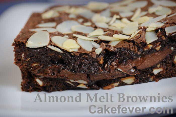 Mmmm Coklat Lelehnya Begitu Menggoda Fudge Almond Adonan Kue