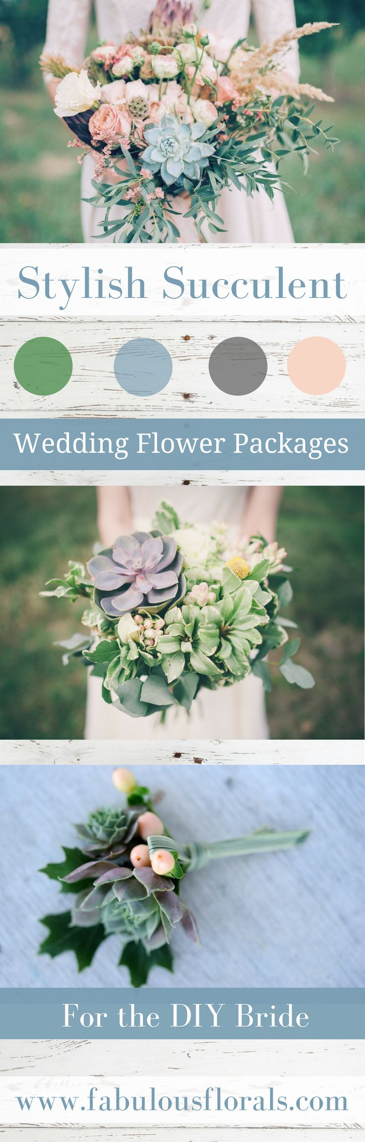 Wedding trends 2018! Succulent DIY wedding Flower Packages! Buy Easy Complete DIY bouquet, Boutonniere & Centerpiece Flower packages online!  How to make a wedding bouquet DIY wedding bouquet tutorials and instructions. #weddingflowerpackages #weddingflowers #weddingtrends