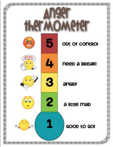 Emotions thermometer - great for children to show you how they are feeling.