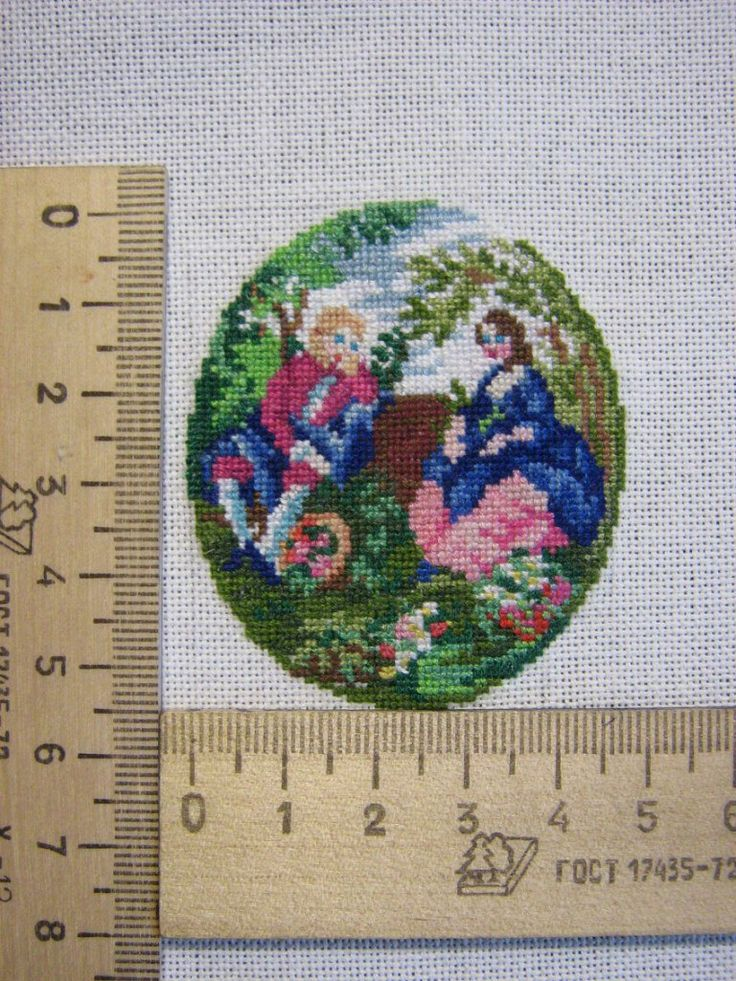 Miniature needlework