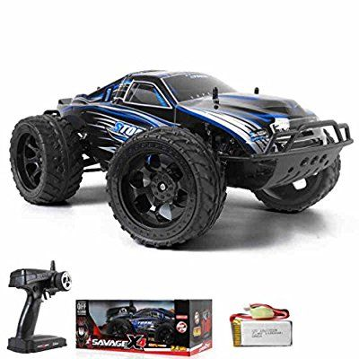 WYXlink 990 1:10 Four-Wheel Drive Off-Road Vehicle Remote High-Speed Drift Ferngesteuertes Auto Truck RC Buggy Truggy Fantastisches Car (Blau)