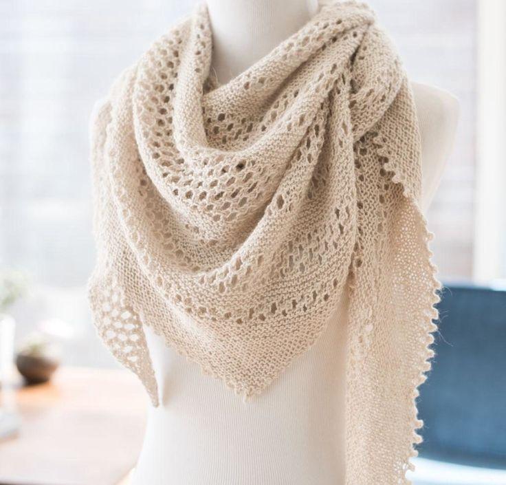 Hot Oatmeal by Jenny Faifel Knit Shawl Kit http://knitting.myfavoritecraft.org/hot-oatmeal-jenny-faifel-knit-shawl-kit/