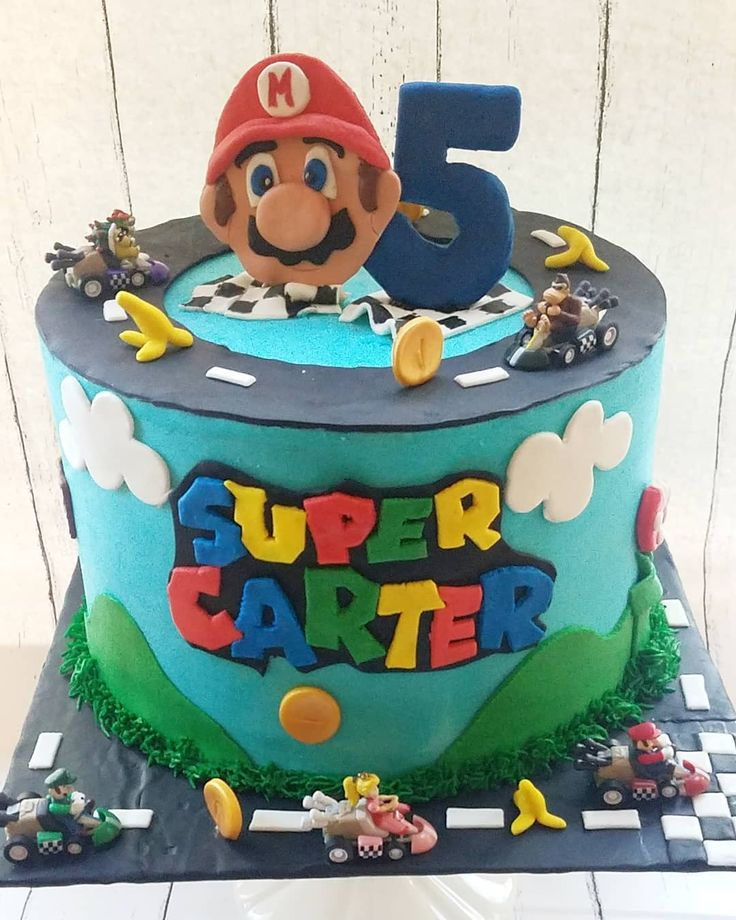 Mario kart cake for the coolest super mario fan we know