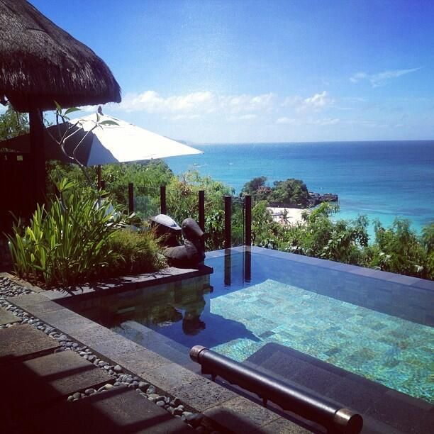 Private pool at Shangri La Boracay in Philippines