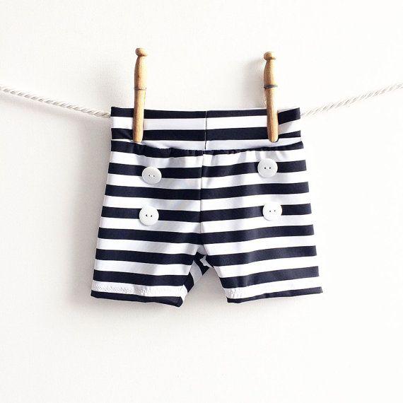 Baby Swim Trunks | Boys Swim Shorts | Toddler Baby Boy Bathing Suit | Swimwear Nautical Retro Lounge Shorts Shorties Boyshorts Swimmer