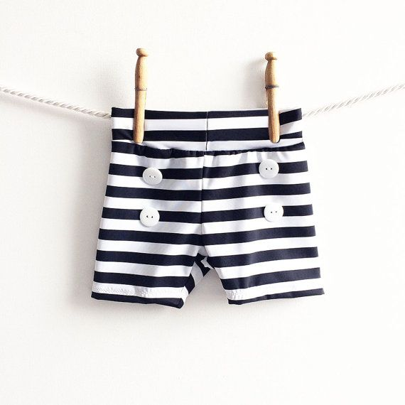 Baby Swim Trunks | Boys Swim Shorts | Toddler Baby Boy Bathing Suit | Swimwear Nautical Retro Lounge Shorts Shorties Boyshorts Swimmer
