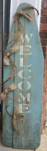 Old wood ironing board.... Pear Tree Primitives