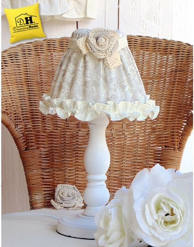 Lampada Shabby chic Collezione Lady Rose Angelica Home & Country