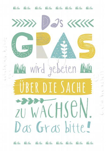 Das Gras - Postkarten - Grafik Werkstatt Bielefeld