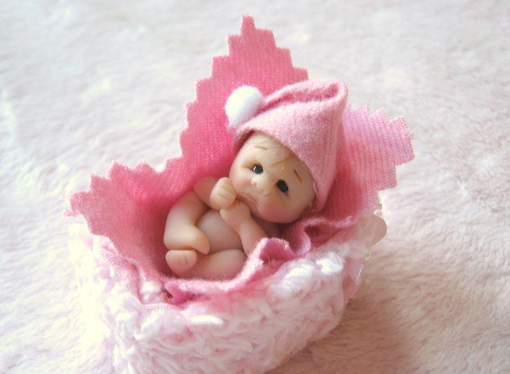 1 1/4 Sculpted Clay Baby by Lisa Haldeman, Lovinclaydolls