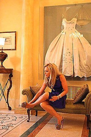 10 Ways to Turn Wedding Mementos Into Tasteful Decor: Adrienne Maloof from The Real Housewives of Beverly Hills couldn't bear to tuck her gorgeous wedding gown away in her closet. Instead, she decided to frame and display it.    Photo courtesy of Bravo