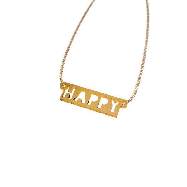 Happy Carved Necklace - Zazzy