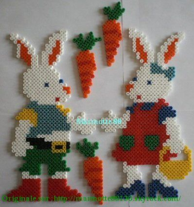 Easter hama perler beads by marmotte88130