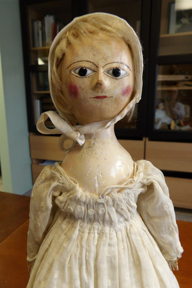 Small Antique 18thc Wooden English Doll