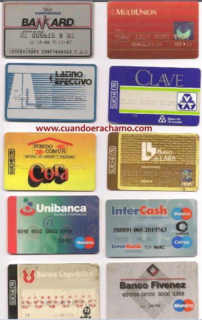 Tarjetas retro de varias entidades bancarias en los años 80s y 90s,imagenes y fotos retro de Venezuela - Buscar con Google