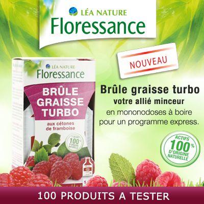 Test produits - Brûle Graisse Turbo - aux cétones de framboise de Floressance - Nous recherchons 100 testeurs ! Posez votre candidature gratuitement.