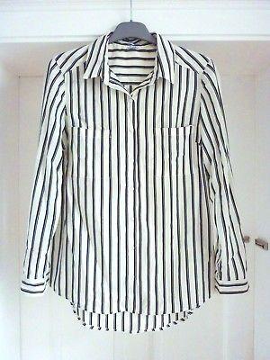 Bluse,gestreift,Streifen,schwarz,weiss,S/M,Vintage,Boho,Retro,50er,70er,Ethno