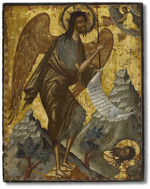 Иоанн Предтеча – ангел пустыни  Вторая половина XVII века. Крит
