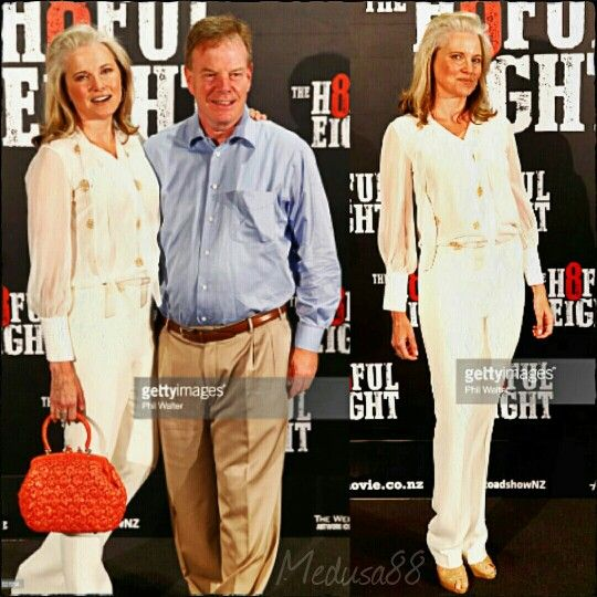 Lucy Lawless and Robert Tapert at 'The Hateful Eight premiere' in Auckland, New Zealand