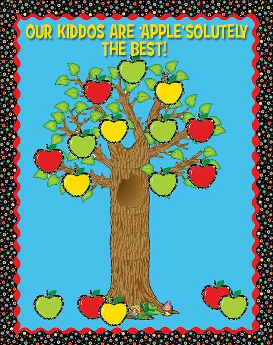Back To School and Fall Themed Apple Bulletin Board Idea