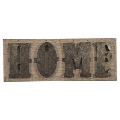 allen + roth 24-in W x 9-in H Frameless Wood Decor Wall Art 3D Art Wall Art