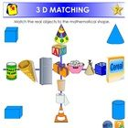 This activity has 2 pages.  The student will demonstrate their understanding of 3D shapes by matching objects to the mathematical model.  eg)  a te...