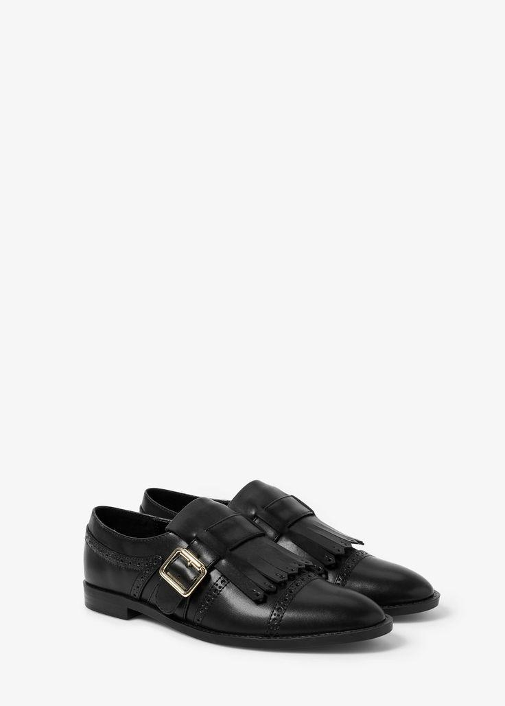 Oxford fringed shoes | MANGO