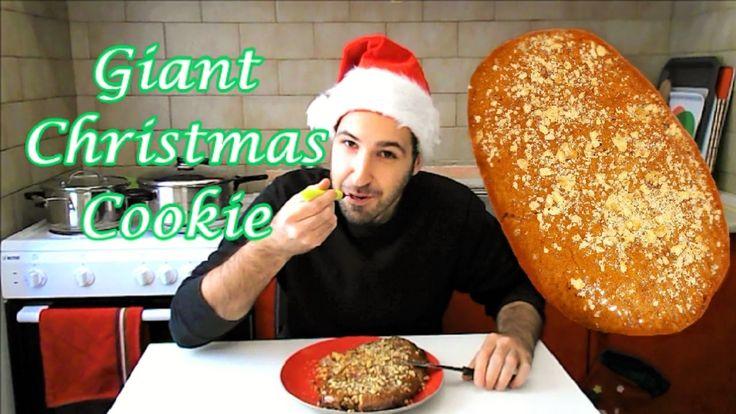 Giant Melomakarono (Greek Christmas Honey Cookie)
