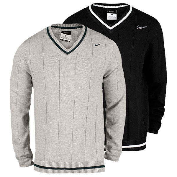 Very classy looking Sweater you can wear on and off the court. Nike Men`s Long Sleeve Tennis Sweater for $85.00.
