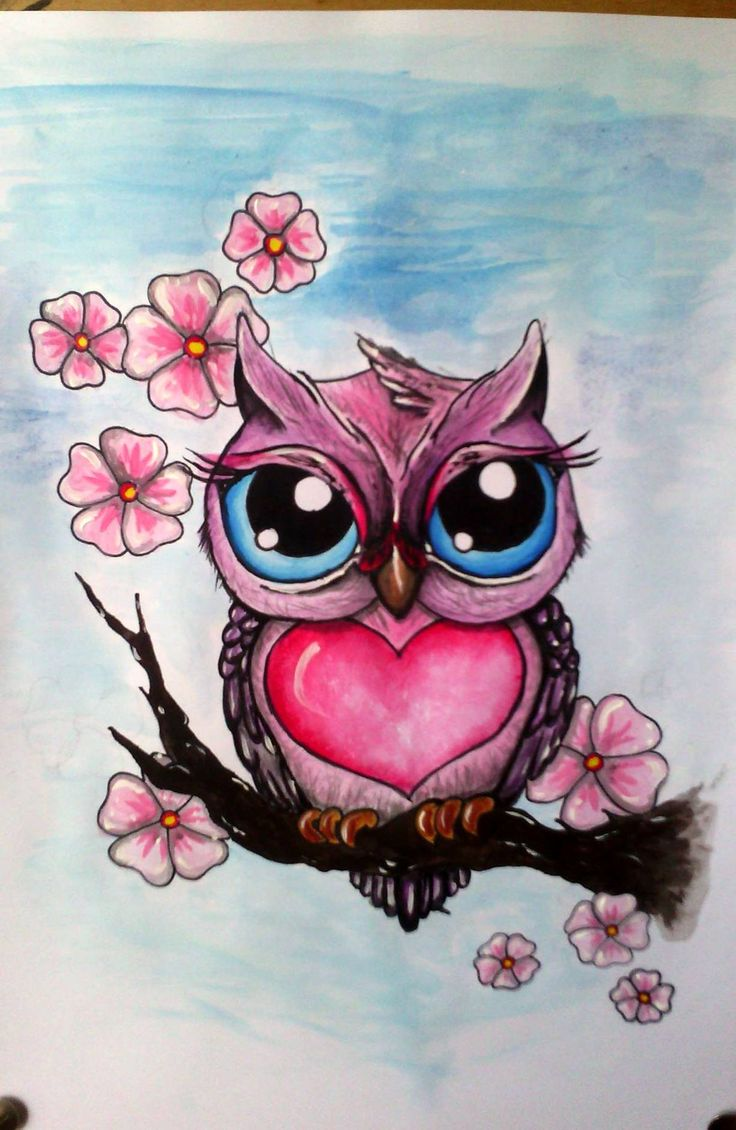 Little Owl - A4, acryl, pen, tempera