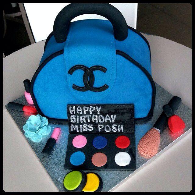 Coco Chanel themed birthday cake.