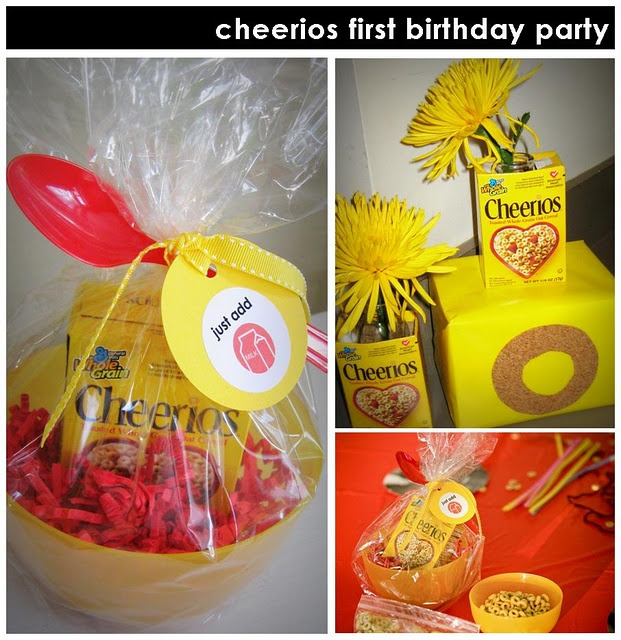 """""""Just add milk"""" party favor #cereal"""
