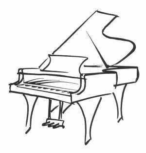 grand piano tattoo - Google Search