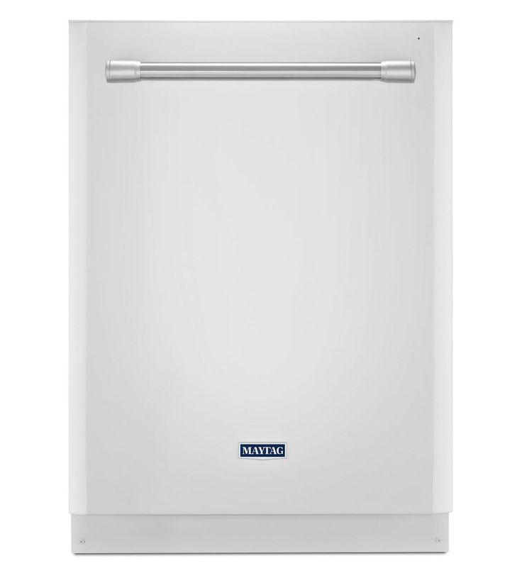 Our Quietest Dishwasher Ever with Large Capacity - Maytag, White with Stainless Steel Handles MDB8969SDH