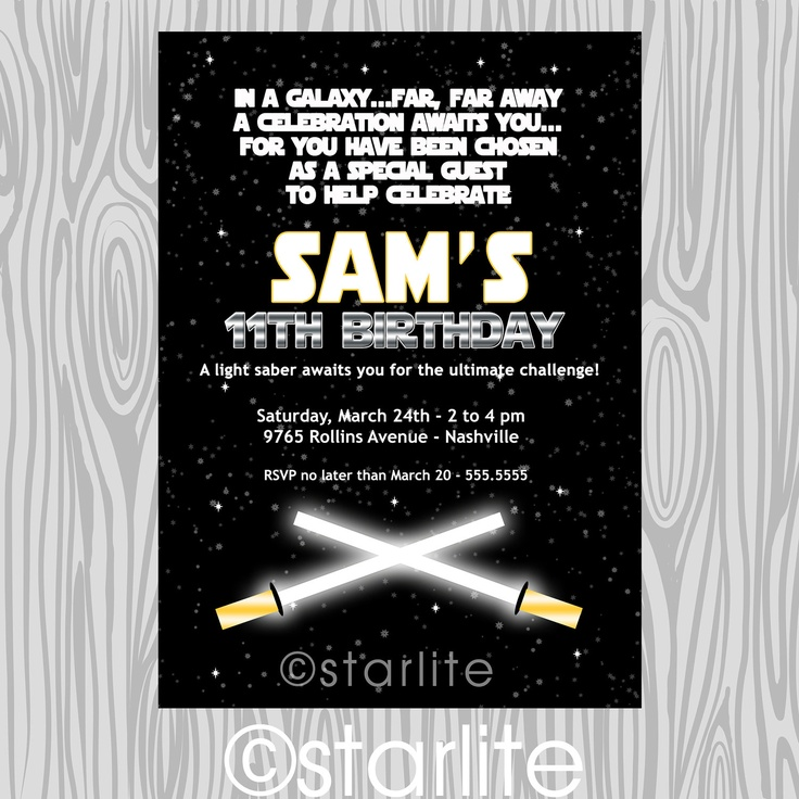 Best Star Wars Party Images On Pinterest Star Wars Birthday - Star wars birthday invitation maker