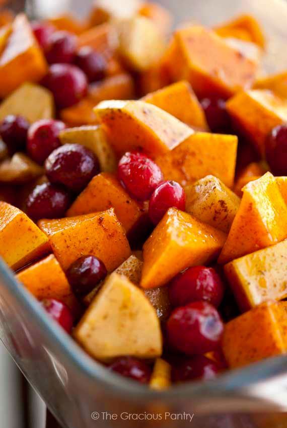 Clean Eating Holiday Butternut Cranberry Bake Recipe