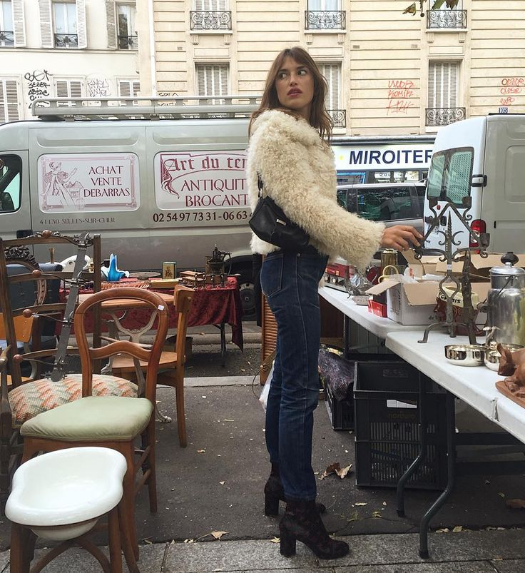 Jeanne Damas | flea market paris great coat.