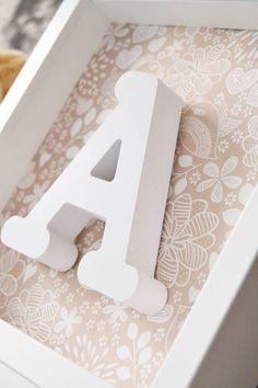Cuadro con letra en relieve, decora la habitación de tu peque con este bonito y dul e cuadro ^^