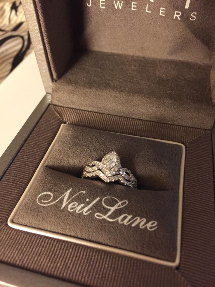 Neil lane marquise engagement ring