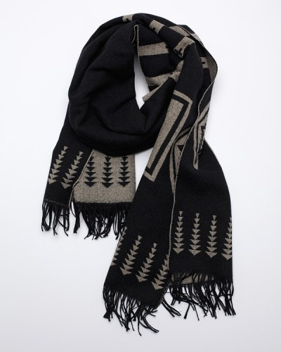 Fashion, Man Scarf, Black And White, Collection Black, Hard Scarf, Accessories, Fe Style, Collection Scarf, Scarf Black