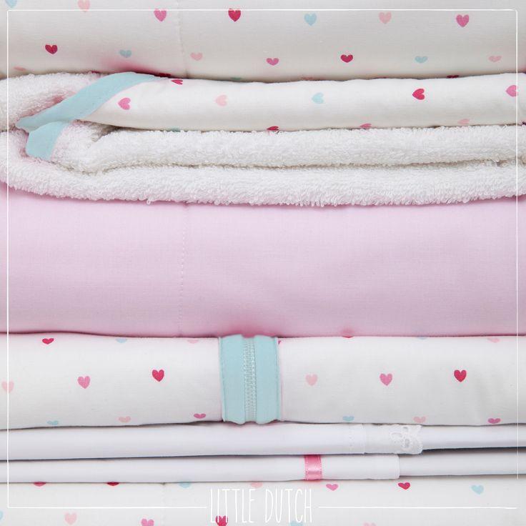 Little Dutch Little hearts  #littledutch #little #dutch #hearts #hartjes #pink #roze #mint #blankets #dekens #nursery #kinderkamer