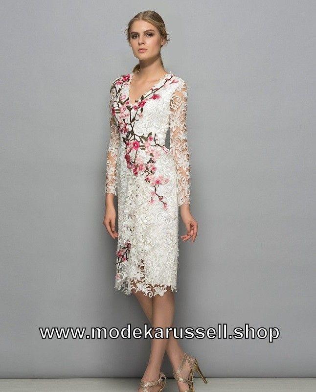 Elegantes Kleid Cocktailkleid 2018 mit Blumen Muster