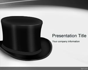 Top Black Hat PowerPoint Template is a free PPT template with a high definition black hat image in the slide design that you can download to decorate your presentations in Microsoft PowerPoint