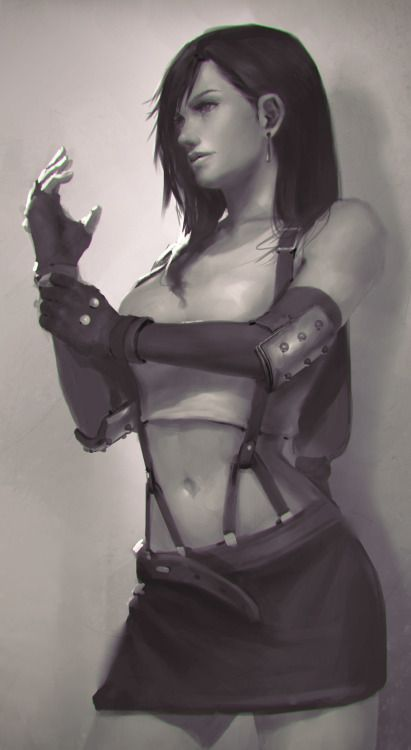 Tifa Lockhart - Final Fantasy VII fan art by Nick GanMore... #DiscoverArt - http://wp.me/p6qjkV-7kN  #Art