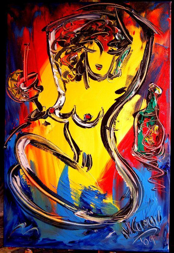 NUDE  original oil painting by Mark Kazav on stretched by kazavart
